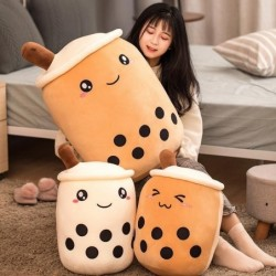 Bubble tea cup plushie - stuffed toy - pillow