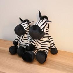 Zebra shaped toy - plush pillow