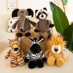 Tierförmiges Plüschtier - Elefant / Tiger / Fuchs / Waschbär / Affe
