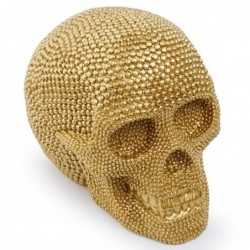 Golden skull - resin statue...