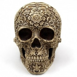 Skull statue - with floral...