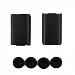 Couvercle arrière de la batterie - pour manette Xbox 360 - avec couvercle de capuchon de 4 baguettes en silicone
