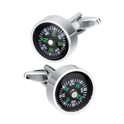 Functional compass - cufflink