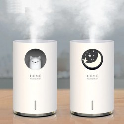 Air humidifier - ultrasonic essential oil diffuser - with LED - auto shut-off - 700ML