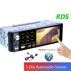 Car radio - 1 Din - RDS - microphone - USB - MP3 - MP5 - TF - ISO - in-dash multimedia player