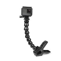 Soporte de abrazadera flexible Jaws - con cuello de cisne ajustable flexible - para GoPro Hero - Sjcam Yi 4K