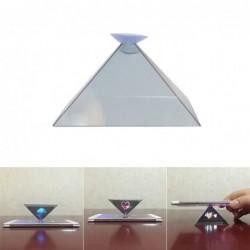 Mini projecteur de téléphone - forme pyramidale - hologramme 3D