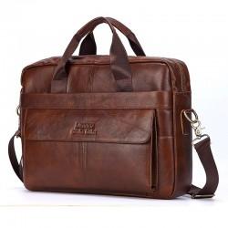 Leather shoulder bag -...