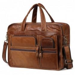 Genuine leather shoulder / crossbody bag - large capacity