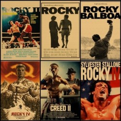 Rocky Balboa / Creed - boxing movie - paper wall poster - sign - 42 * 30cm