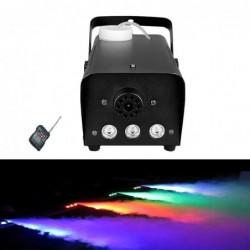 Mini máquina de humo - 500W - LED - RGB - inalámbrica - con mando a distancia