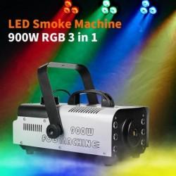 900W - máquina de humo con LED - inalámbrica - con mando a distancia
