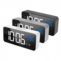Despertador musical LED - USB - activado por sonido - con función de repetición