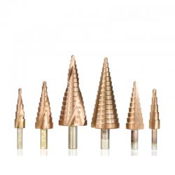 HSS-beschichteter Stufenbohrer - 4-12 mm / 4-20 mm / 4-32 - Holz- / Metallbohrung