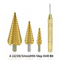 HSS step drill bit - 4-12/20/32mm - wood cutter