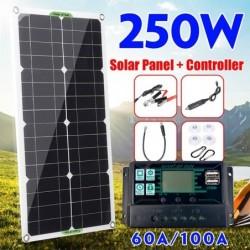 Solarpanel-Kit - Ladegerät - Dual-USB - 250 W - mit Controller - für Auto / Yacht / Smartphones