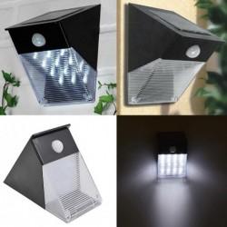 Aplique solar triangular - con sensor de movimiento PIR - 12 LED