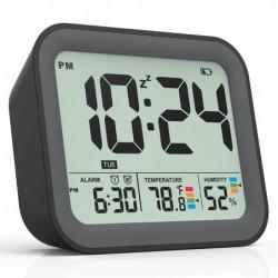 Digital alarm clock - battery - snooze - small - compact