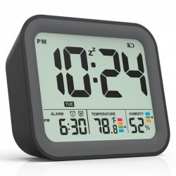 Digital alarm clock - dual smart alarm - with workdays / weekends setting / snooze - battery operated