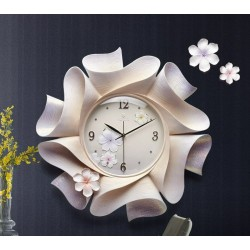3D floral wall clock - with...