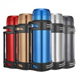 Thermos with strap -stainless steel - portable - outdoor travel Insulated
