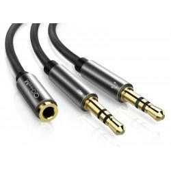 AUX-Kabel Y - Audio-Splitter - 3,5 mm - Buchse auf 2 Stecker