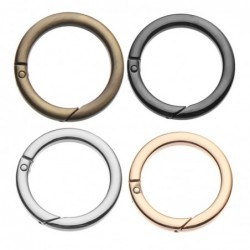 Spring O-ring buckle - round push trigger - hook - carabiner - 19mm - 25mm - 32mm - 38mm