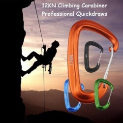12KN climbing carabiner - with safety lock - climbing equipment
