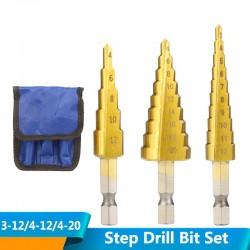 HSS step drill bit set -...