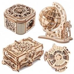 3D wooden puzzle - laser cutting - antique jewelry box - calendar - globe