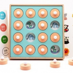 Memory match - chess - educational wooden games