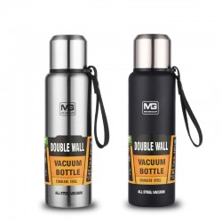 A must -  stainless steel thermos - portable - insulated tumbler with rope