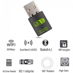 USB wifi dongle adapter for computer - wireless - receiver 600mbps