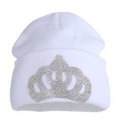 Luxurious beanie - with crystal crown emblem