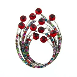 Vintage rhinestone flower brooche - a design for everywear