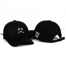 Baseball cap / snapback - adjustable strap - sad face logo