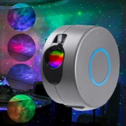 LED laser projector - night light - with remote control - starry sky / galaxy / stars