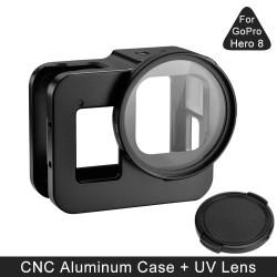 Schutzhülle GoPro Hero 8 - Aluminiumrahmen - mit UV-Linsenfilter