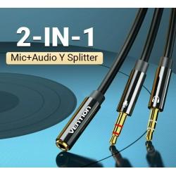Headphone set - vention - adapter - audio 3.5mm - uniswx