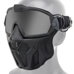 Taktische Vollmaske - mit Gläsern / Antibeschlag-Lüfter - verstellbarer Riemen - Airsoft - Motocross / Paintball