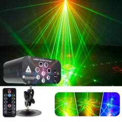 Disco light - professional - led - 8 holes laser projector -