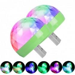 Mini Disco Licht - USB - LED - Kristallkugel - Lampe - mit Musiksensor