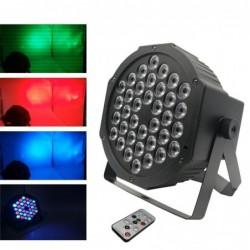 LED Par - flache Bühnenleuchte - RGBW - mit Fernbedienung