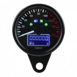 Motorcycle universal digital speedometer - gauge - waterproof  - dual speed