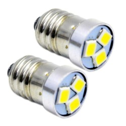 P13.5S PR2 / E10 - LED bulb - 3V / 6V / 12V - 6000K - 2 pieces