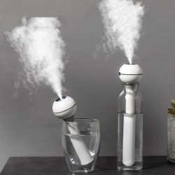 Ultrasonic air humidifier - portable - USB rechargeable - with light - essential oil diffuser