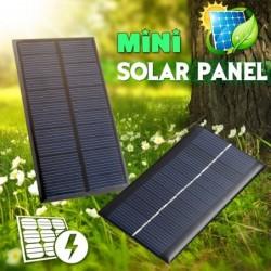 Solar panel charger system - 2V 5V 6V 12V - mini - for battery cell phone