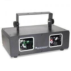 Disco-/Bühnen-Laserlicht - Projektor mit 2 Linsen - RGB