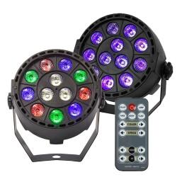 RGBW / UV Disco Licht - LED - kabellos - 36W - mit Fernbedienung