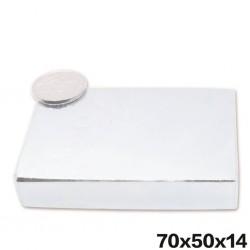 N52 - Neodym-Magnet - Quaderblock - 70 mm * 50 mm * 14 mm